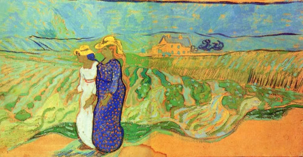 Two Women Crossing the Fields