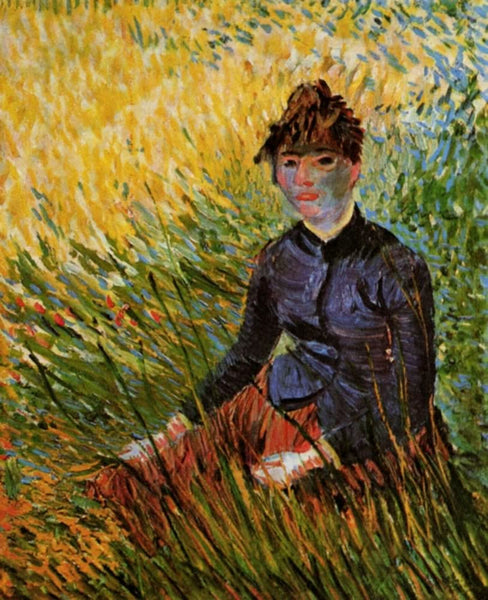 Woman Sitting in the Grass