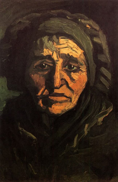 Head of a Peasant Woman with Greenish Lace Cap
