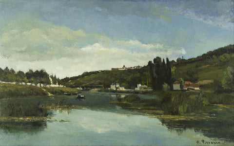 The Marne at Chennevieres by Camille Pissarro