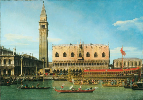 The Bucintoro at the Molo on Ascension Day (1745) by Canaletto