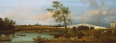 Old Walton Bridge (1755) by Canaletto