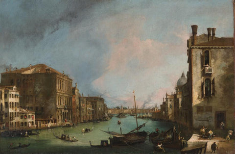 The Grand Canal in Venice with the Rialto Bridge by Canaletto