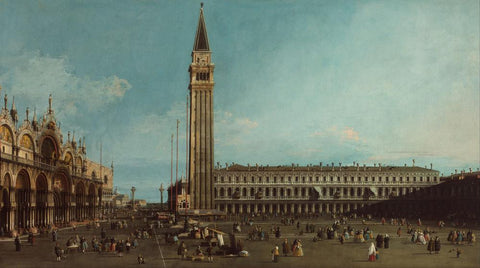 The Piazza San Marco  Venice by Canaletto