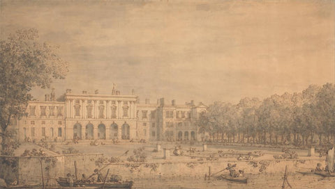View of Old Somerset House from the Thames by Canaletto