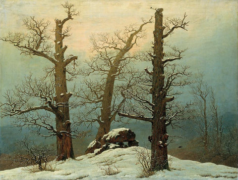 Cairn in Snow by Caspar David Friedrich