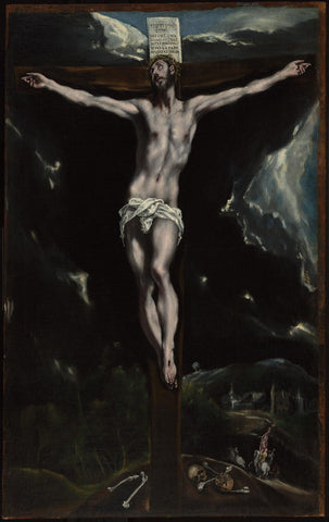 Christ on the Cross by El Greco (Domenico Theotocopuli) (Greek