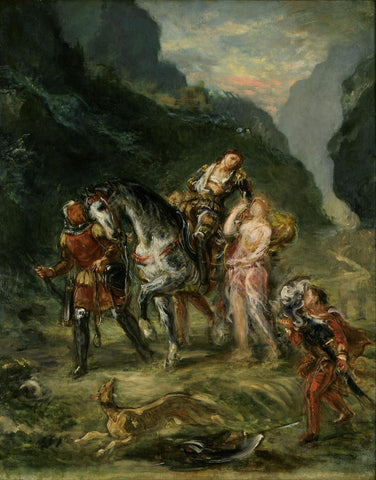 Angelica and the wounded Medoro by Eugene Delacroix