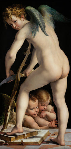Bow-carving Amor by Francesco Mazzola  called Parmigianino