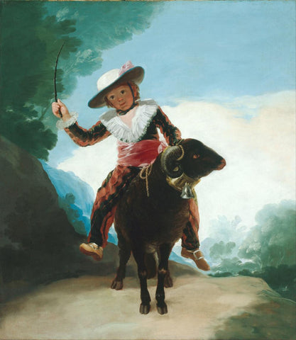 Boy on a Ram by Francisco Jose de Goya y Lucientes