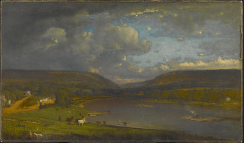 On the Delaware River by George Inness