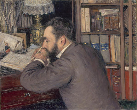 Henri Cordier by Gustave Caillebotte