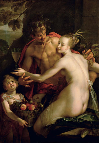 Bacchus  Ceres and Amor  by Hans von Aachen