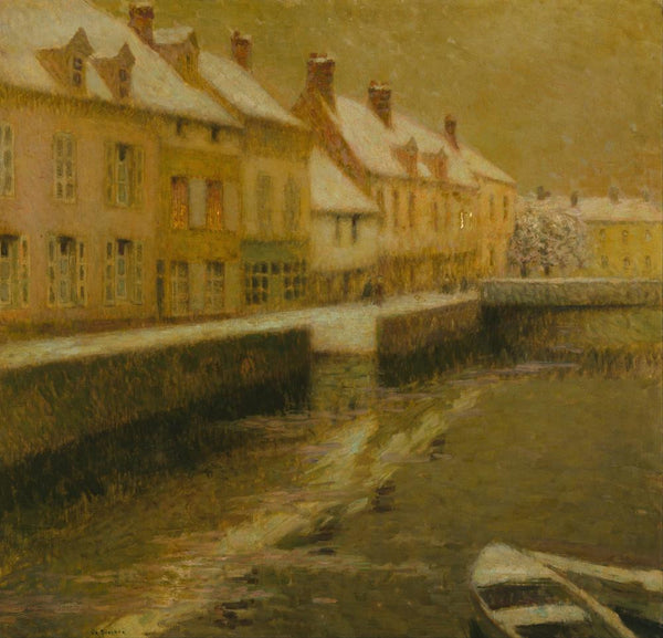 Canal in Bruges  winter by Henri Le Sidaner