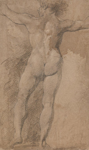Male with Arms Spread Wide Seen from Behind by James Barry
