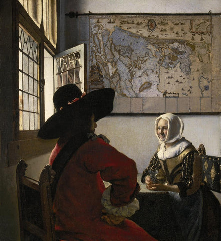 Officer and a Laughing Girl (1657) by Johannes Vermeer