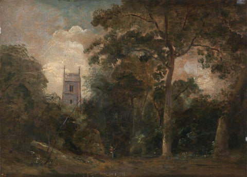 A Church in the Trees by John Constable
