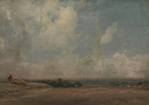 A View from Hampstead Heath  by John Constable