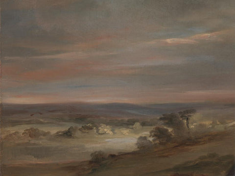 A View on Hampstead Heath  Early Morning by John Constable