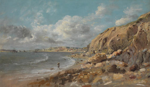 Coast Scene at Cullercoats near Whitley Bay by John Linnell
