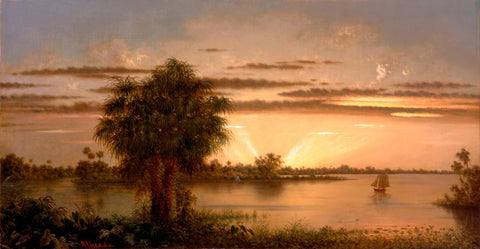 Florida Sunrise by Martin Johnson Heade