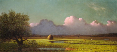 Sunlight and Shadow- The Newbury Marshes by Martin Johnson Heade