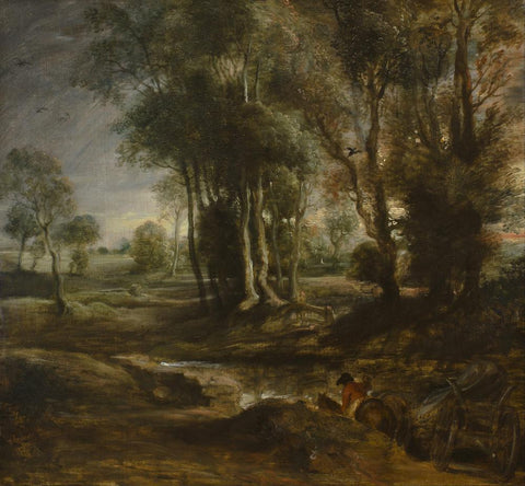 Evening Landscape with Timber Wagon by Peter Paul Rubens