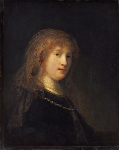 Saskia van Uylenburgh  the Wife of the Artist by Rembrandt van Rijn