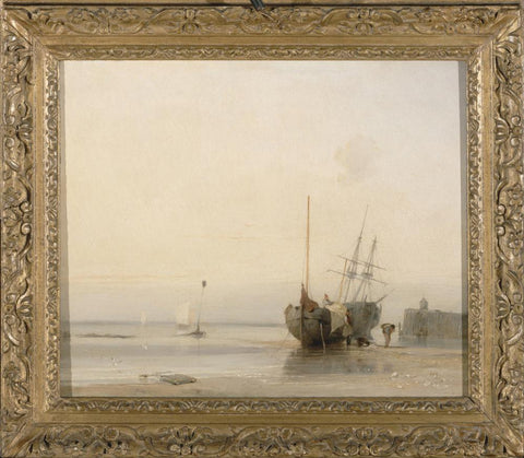 Calais Jetty  France by Richard Parkes Bonington