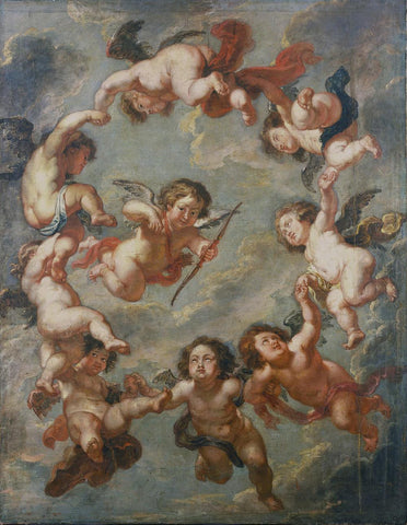 Putti- a ceiling decoration by Rubens  Sir Peter Paul