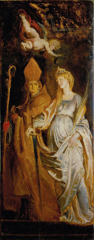 Saints Amandus and Walburga; Saints Catherine of Alexandria and Eligius by Rubens  Sir Peter Paul