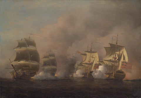 Action off the Cape of Good Hope by Samuel Scott