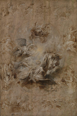Multiple Sketch for the Banqueting House Ceiling by Sir Peter Paul Rubens