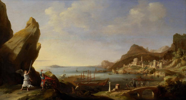 Coastal Landscape with Balaam and the Ass by Bartholomeus Breenbergh