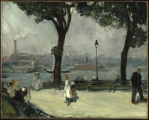 East River Park by William Glackens