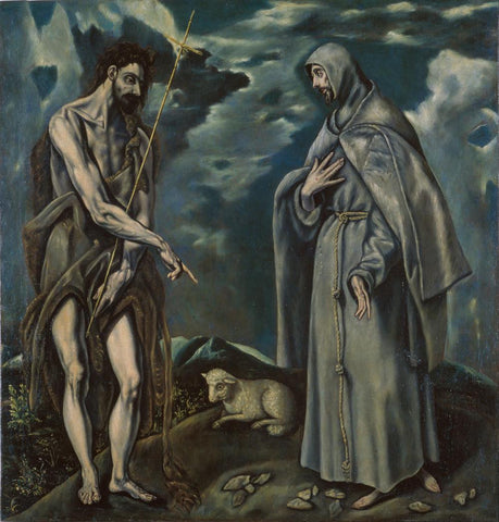 Saint John the Baptist and Saint Francis of Assisi by Workshop of El Greco