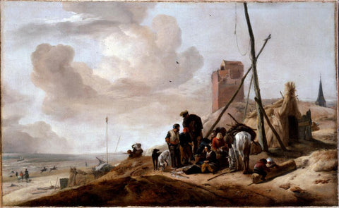 A Coastal Scene by Wouwerman  Philips