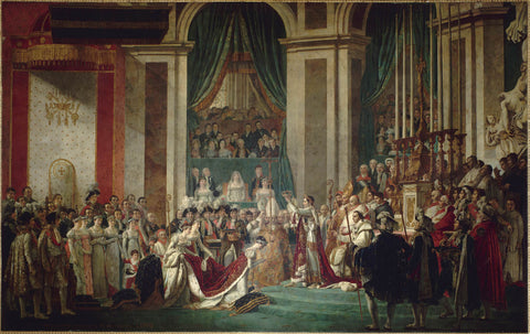 The Coronation of Napoleon and Josephine by Jacques-Louis David