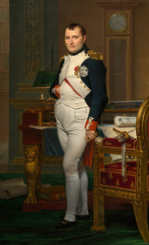 The Emperor Napoleon in His Study at the Tuileries (1812) by Jacques-Louis David