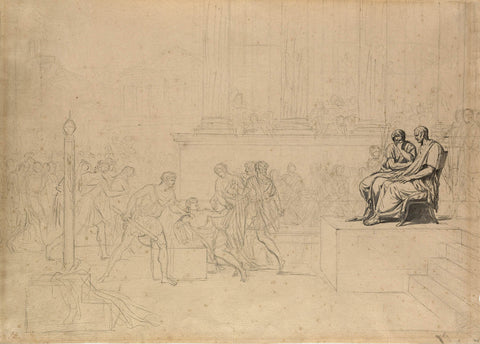 "Study for the """"Execution of the Sons of Brutus"""" by Jacques-Louis David"