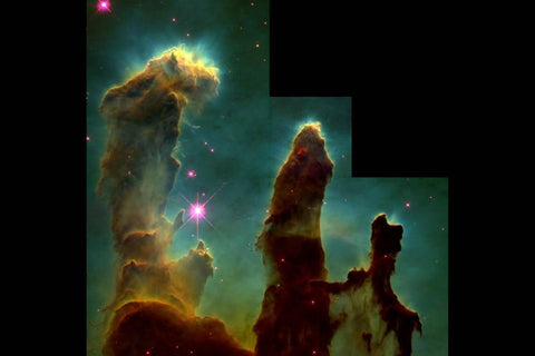 Star-Forming Gas Pillars in the Eagle Nebula (M16)