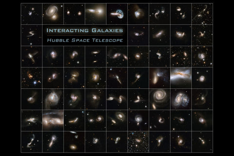 Hubble Interacting Galaxies Poster
