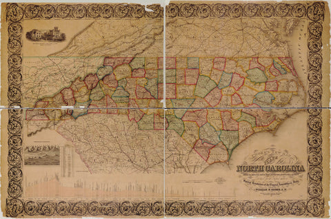 Cooke's new map of the state of North Carolina : constructed from actual surveys private contributions & authentic public documents procured for the purpose under a special resolution of the General Assembly of the state