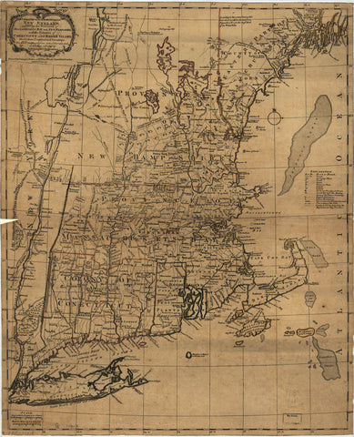 A map of the most inhabited part of New England containing the provinces of Massachusets Bay and New Hampshire with the colonies of Conecticut and Rhode Island divided into counties and townships: The whole composed from actual surveys and its situation a