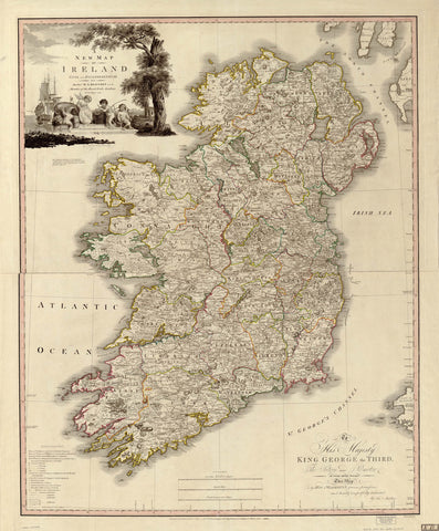 A new map of Ireland : civil and ecclesiastical