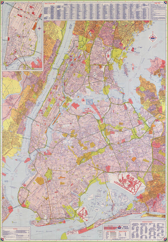 Street map New York City