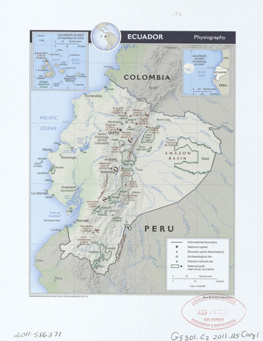 Ecuador physiography.