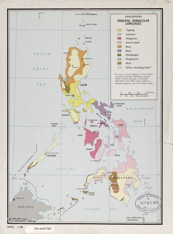 Philippines principal vernacular languages.