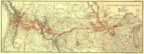 Northern Pacific Railway 1900.