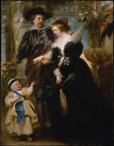 Rubens His Wife Helena Fourment (1614-1673) and Their Son Frans (1633-1678)
